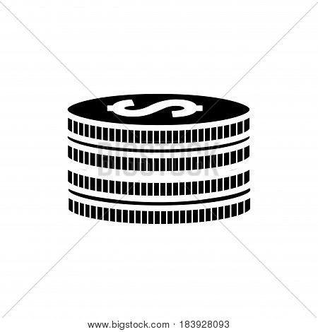 silhouette matal coins money save, vector illustration design