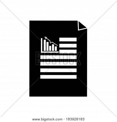silhouette business statistics strategy data documents, vector illustration