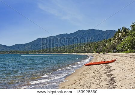 beautiful Palm Cove beach near Cairns Australia