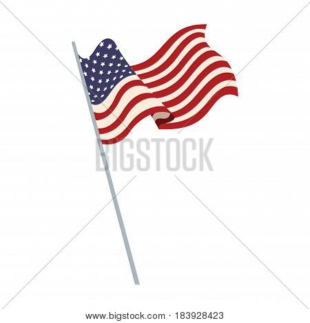 united states of america flag waving symbol national vector illustration