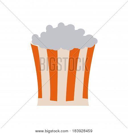 bucket pop corn food celebration party vector illustration