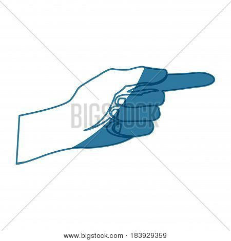 hand pointing voting celebration national concept shadow vector illustration