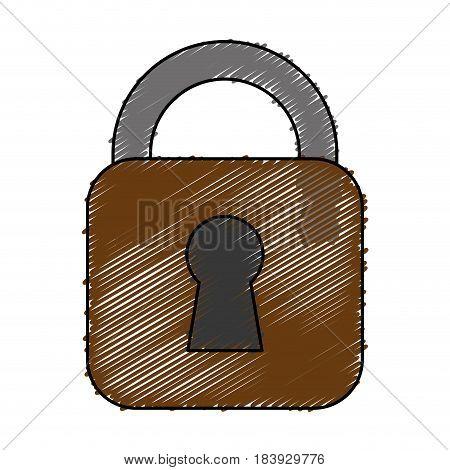 padlock icon over white background. vector illustration