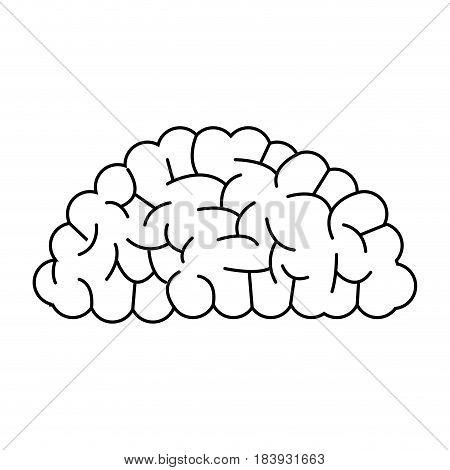 brain organ human intelligence concept outline vector illustration