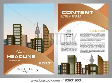 Vector Flyer, Corporate Business, Annual Report, Brochure Design And Cover Presentation With Brown W