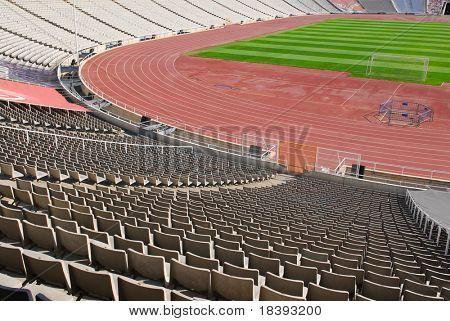 Olympic Stadium In Barcelona, Spain