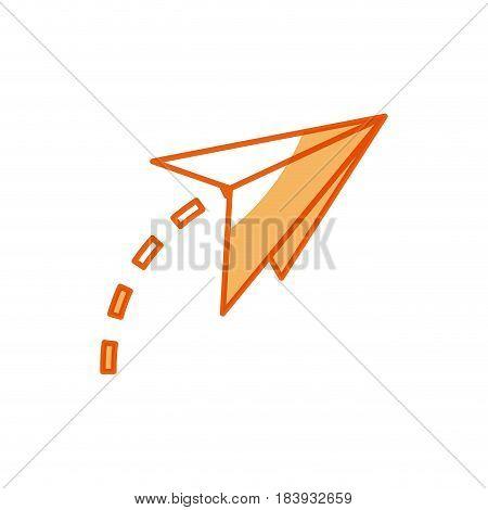 paper airplane origami creativity symbolic vector illustration