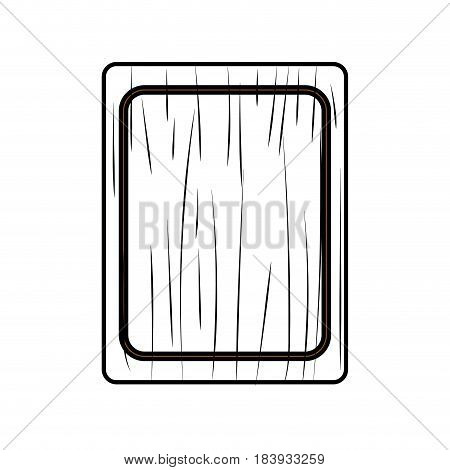 figure cutting board practical to prepare fresh vegetable, vector illustration