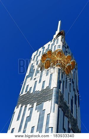 Building With Small Ferris Wheel In Batumi. Georgia