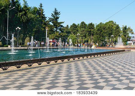 Fountains On Batumi Boulevard. Georgia
