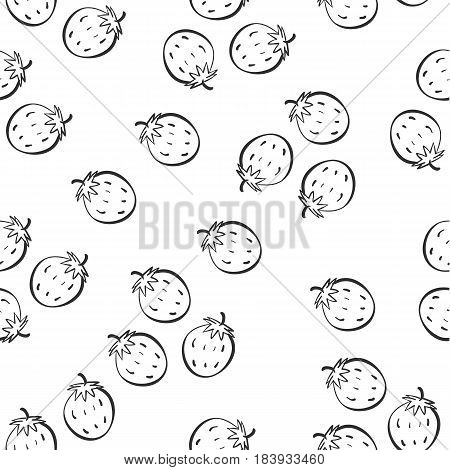 Pattern of fruit style collection stock vector art