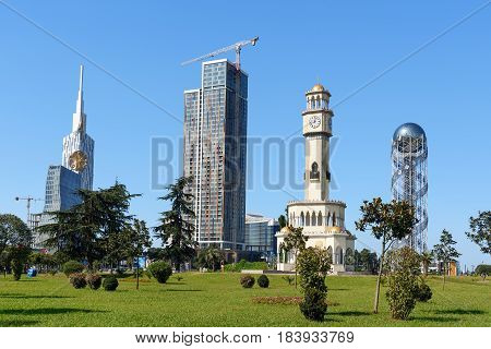 Skyscrapers In Miracle Park. Batumi. Georgia