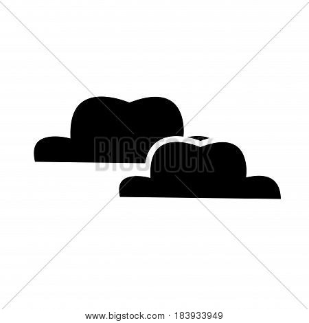 cloud weather climate design silhouette vector illustration