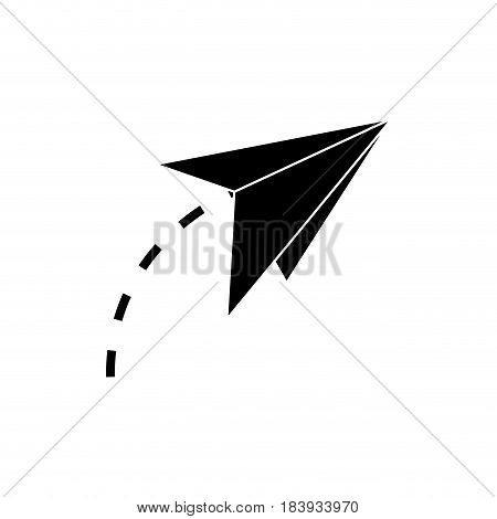 paper airplane creativity symbolic silhouette vector illustration