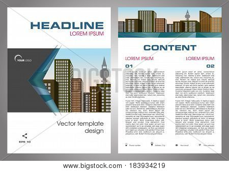 Vector Flyer, Corporate Business, Annual Report, Brochure Design And Cover Presentation In Blue And
