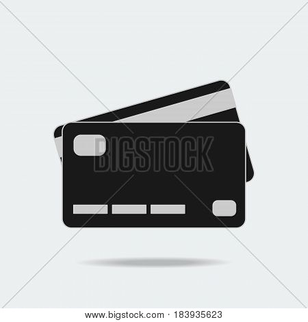 Credit card internet online payment vector icon flat design financial technology