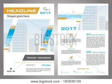 Vector Flyer, Corporate Business, Annual Report, Brochure Design And Cover Presentation In Orange An