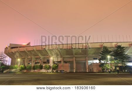 GUANGZHOU CHINA - NOVEMBER 12, 2016: Guangzhou Tianhe Sports Center. Guangzhou Tianhe Sports Center is a multi purpose stadium in Tianhe district.