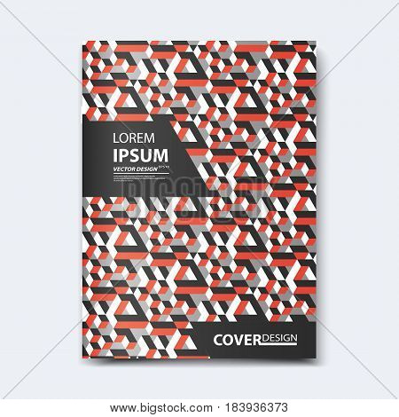 Abstract vector design for cover, poster, banner, flyer, business card, magazine annual report, title page, brochure template layout or booklet .A4 size with Isometric shapes on white background.