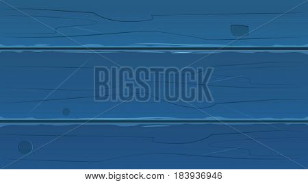 Blue Wood Planks, Wooden Texture Background Vector Illustration