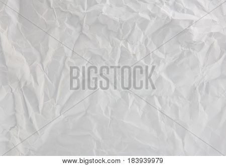 The wrinkled paper texture pattern white color background