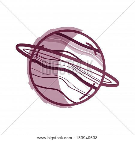exploration uranus planet in the galaxy space, vector illustration