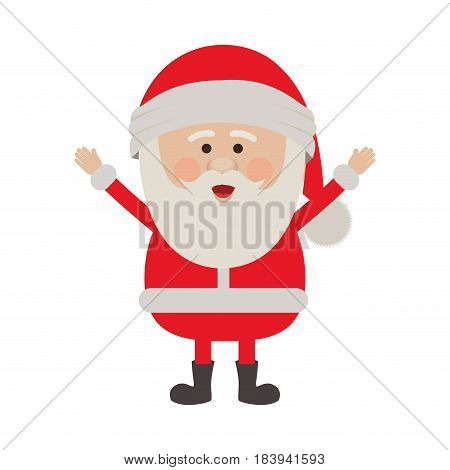 color silhouette of santa claus with open arms vector illustration