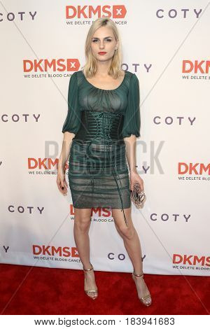 NEW YORK-APR 27: Model Andrea Pejic attends the 11th Annual DKMS 'Big Love' Gala at Cipriani Wall Street on April 27, 2017 in New York City.
