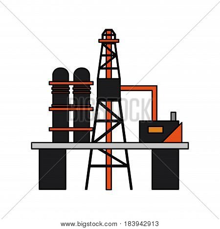colorful graphic industry refinery of petroleum vector illustration