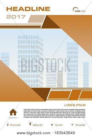 Vector Flyer, Corporate Business, Annual Report, Brochure Design And Cover Presentation With Brown R