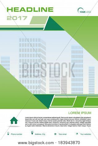Vector Flyer, Corporate Business, Annual Report, Brochure Design And Cover Presentation With Green R