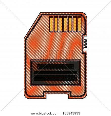 color blurred stripe modern memory card vector illustration