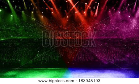 Concert Spotlight With Color Flare