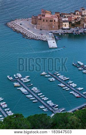 Panoramic View Of Castellamare Del Golfo In Sicily