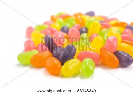 Color Jelly Beans On White Background