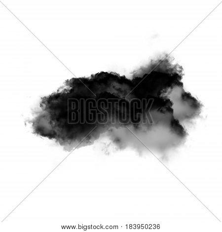 Cloud over white background 3D rendering illustration realistic cloud shape image