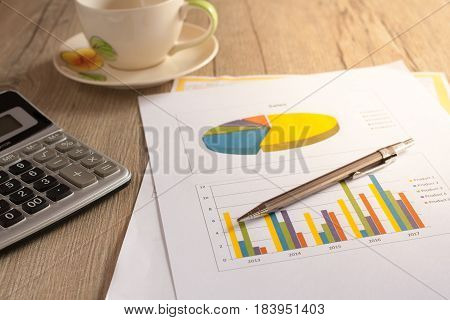 Analysis Charts And Graphs Of Sales -successful Corporate Business