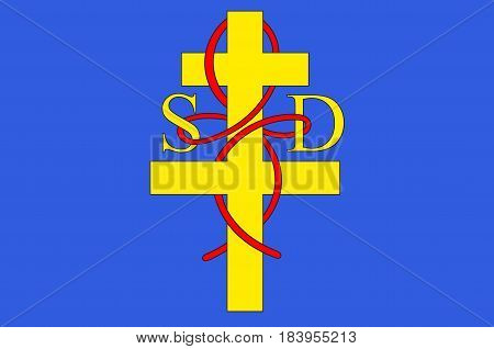 Flag of Saint-Die-des-Vosges commonly referred to as Saint-Die is a commune in the Vosges department in Grand Est in northeastern France