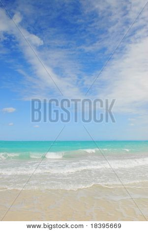 Tropical beach of Cayo las Brujas on caribbean island Cuba