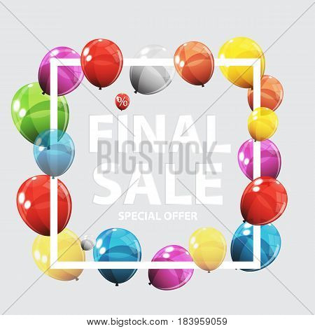 Sale Balloon Concept of Discount. Special Offer Template .Vector Illustration EPS10