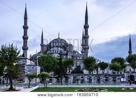Sultanahmet - blue mosque in Istanbul, Turkey
