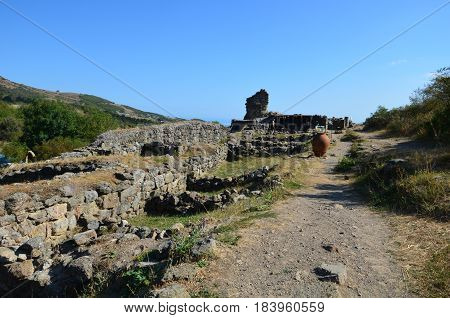 Ruins Of The Ancient Fortress Funa Of The 6Th Century
