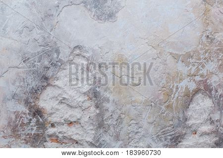 The ged cement wall texture pattern background.