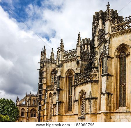 Batalha Dominican medieval monastery Portugal - great masterpieces of Gothic art. UNESCO World Heritage