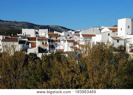 View of the village buildings El Burgo Malaga Province Andalusia Spain Western Europe.
