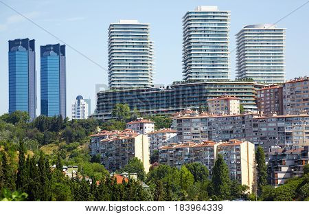 The View Of Skyscrapers In Besiktas Municipality In Istanbul