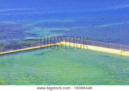 Swimming pool in ocean on Manly beach, Sydney Australia