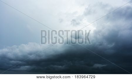 Thunderstorm , raining and rain clouds background