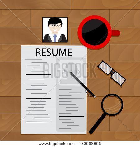 Job hunting vector career and job seeker recruitment job application illustration