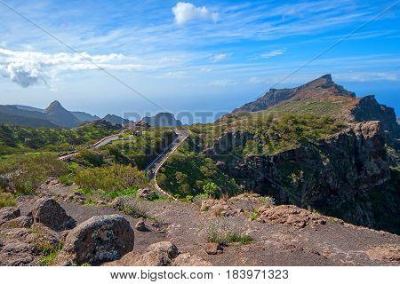 Mountain views drive to Mask the village, Tenerife